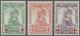 Belgien: 1914/1925, Rotes Kreuz (I) Und 75 Jahre Belgische Briefmarken Als Zwei Postfrische Sätze - Neufs