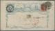 Belgien: 1858/61: 40 c. red, (Yvert 12), three margined example used on delightful J. B. Moens blue advertising envelope