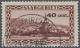 Deutsche Abstimmungsgebiete: Saargebiet: 1934, Freimarke: Landschaftsbilder, 40 C. Auf 50 C., Abart 'Aufdruck In Rot, Zu - Used Stamps