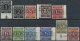 Bizone: 1948, Postfrisches Lot Von 39 Werten Band/Netz Auf Ziffern, Auch Bessere Werte Und Kopfstehende Aufdrucke, Altsi - Zone Anglo-Américaine
