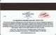 Mohegan Sun Casino At Pocono Downs - Wilks-Barre, PA USA - Slot Card - 17mm Wide Logo On Back - Casino Cards