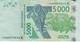 BILLETE DE SENEGAL DE 5000 FRANCS DEL AÑO 2003 CALIDAD EBC (XF) (CIERVO-DEER) (BANK NOTE) - Senegal
