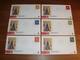 6 X Philato FDC W126 (1 Zegel Per Envelop) - Blanco / Open Klep - FDC