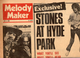 Rolling Stones At Hyde Park, Melody Maker Magazine, July 5, 1969 - Posters