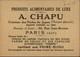 CHROMOS - Pub Pour Produits Alimentaires CHAPU - Devinette - Chromos