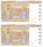 PAREJA CORRELATIVA DE COSTA DE MARFIL DE 1000 FRANCS DEL AÑO 1998 (BANKNOTE) SIN CIRCULAR-UNCIRCULATED - Côte D'Ivoire