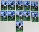 11 Cartes Magnets équipe De France Football 2010 Benzema Gallas Evra Ribéry Abidal - Sports