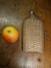 Flasque à Alcool Habillée En Osier Ou Cannage Tressé  , Goulot En étain à Vis , Hauteur 18cm - Autres Bouteilles