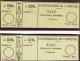 N° 1 /2  25c Et 50c Noir Sur Bulle  Qualité:  Cote: 4500 - Stamps