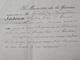 ACCORD D'un CONGES De 3 MOIS Au CHEF De BATAILLON LEDOUX, CHEF Du GENIE à TUNIS (Tunisie) - Le 24 Janvier 1884 - Documents Historiques