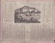 CALENDRIER   1874   ALMANACH  DES  POSTES  (  37  CHATEAU  D' AMBOISE  ) . (  2  SCANS R° V°  ) - Calendari