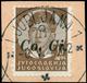 Co.Ci. Lotto Composto Dai 2 Valori Rari Della Prima Serie Con Soprastampa A Macchina (nn.14+17), Annullati Su Frammento. - Stamps