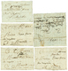 APT - 5 Lettres : DEB. D'APT Manus, 1780/90 APT + PORT PAYE(x2), 1784 APT + FRANCHE, 1782 APT + FRANC. TTB. - Timbres