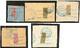 Coupés. Nos 78B, 79, 80, 82, 84, Sur Petits Fragments. - TB - Madagascar (1889-1960)