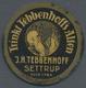 "Thematik: Alkohol / Alcohol: 1921 (ca.), Dt. Reich. Kapselgeld 5 Pf Ziffer Mit Reklame ""Trinkt Tebbenhoff's Alten / J. H - Wines & Alcohols"