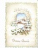 BONNE ANNEE, Carte En Relief (gaufrée?), Village Sous La Neige, Feuilles De Houx, Oiseaux, Ed. MD 1960 Environ - Nouvel An