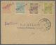 "Br Estland - Stempel: 1919. Scott 1 - 4, Locally Perforated, Tied By Linear Violet ""Tallin"", Circular ""TALLIN B 7 - Estonie"