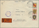 Br Französische Zone - Allgemeine Ausgabe: 1946, Früher Wertbrief Aus Dem Zollausschlußgebiet BÜSINGEN - Zone Française