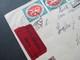 DR Infla 1919 Nr. 108 Und 4x Nr. 109 MiF Eilboten Expres Brief. Schloss Wedendorf Schwerin. - Deutschland