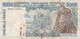 BILLETE DE MALI DE 5000 FRANCS LETRA D (BANK NOTE) - Mali