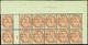 623 N° 109 3c Blanc Bloc De 12 Avec Essai De Numérotation Qualité:** Cote:..... - Errors & Oddities