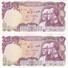 PAREJA CORRELATIVA DE IRAN DE 100 RIALS DEL AÑO 1976   (BANKNOTE) SIN CIRCULAR-UNCIRCULATED - Irán