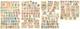 1859-1900 (Poste), Petites Et Moyennes Valeurs Dont Doubles Et Multiples, Nombreux Ex *. - TB Ou B - France (former Colonies & Protectorates)