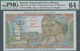 Réunion: 10 NF On 500 Francs ND(1971) P. 54b, Condition: PMG Graded 64 Choice UNC EPQ. - Réunion