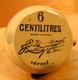 MIGNONNETTE VIDE SANS BOUCHON 6 CENTILITRES BARDINET DISTILLATEUR BORDEAUX - Miniatures