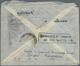 "Br Iran: 1936, Katastrophenpost, ""DAMAGED BY IMMERS. IN SEA WATER I.S."", Ra2 Rückseitig Auf Luftpostbri - Iran"