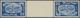 ** Israel: 1948, 20m. Horizontal Téte-béche Gutter Pair With Missing Perforation Through Gutter, Mint N - Zonder Classificatie