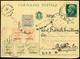 """L ULTIMO GIORNO DI VALIDITA'(30.9.1944) Diretta In America, Cartolina Postale """"Vinceremo"""" Da C.15 (Imperiale) + Francobo - Sizilien"""