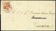L VERONA C1, Lettera Completa Di Testo Per Vicenza Affrancata Col 5 Sd.della V (43e) Esemplare Dell'ultima Riga Del Fogl - Lombardije-Venetië