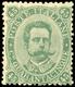 * UMBERTO I, Il Raro Valore Da 45 Centesimi Verde Oliva (n.46). Certificato Storico A.Diena (1975). - 1861-78 Vittorio Emanuele II