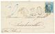 249 1871 20c(n°29) Obl. GC 3103 + T.17 REIMS 29 Mars 71 + Taxe 30 D.T Annulée + Taxe 30 Manuscrite Bleue Sur Lettre Pour - Alsace-Lorraine