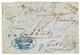 714 1857 BROOD + Negativ Cachet On Entire Letter From SARAJEVO To VIENNA. Vvf. - Autriche