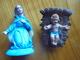 Ancien - Personnages De Crèche - La Vierge Marie Et L'enfant Jésus - Italy - Crèches De Noël