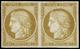 (*) N°38 40c Bistre, Essai En Paire - TB - 1870 Beleg Van Parijs