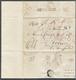 Br Europa: 1815/1852, Zusammenstellung Von Zwölf Markenlosen Briefen, Dabei Bayern Feldpost 1815, Meist - Autres - Europe
