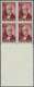 **/ Dänemark: 1952, J.C. Jacobsen, Brownish Red, Mnh. Proof, Block Of Four With Large Bottom Sheet Margi - 1851-63 (Frederik VII)
