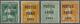 (*) Frankreich - Vorausentwertungen: 1921, 5 C. Green, 5 C. Yellow, 15 C. Green And 30 C. Red With Pre-c - Non Classés