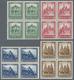 ** Deutsches Reich - Weimar: 1931, 8 - 50 Pfg. Taufrischer Luxussatz Bauwerke Je Im 4er-Block, Mi. 960. - Unused Stamps