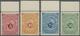 * Deutsch-Ostafrika: 1892, 5 Pfg. Bis 50 Pfg. Schülke & Mayr, Vier Oberrandstücke, Postfrisch Mit Haft - Kolonie: Duits Oost-Afrika