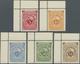 ** Deutsch-Ostafrika: 1892, 5 Pfg. Bis 1 $ Schülke & Mayr Als Nachdruck, Kompletter Postfrischer Kabine - Colony: German East Africa