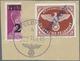 Brfst Feldpostmarken: 1945. Agramer Aufdruck INSELPOST Schwarzblau, Gezähnt, Mit Halbierter Zulassungsmark - Occupazione