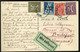 GERMANY 1923 Inflation  Airmail Card Sent To Budapest - Covers & Documents