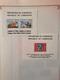 CARTON COLONIES FRANCAISES AVANT INDEPENDANCE AVEC TIMBRES SUR FEUILLES - France (ex-colonies & Protectorats)