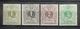 BELGIE  1884   Nr. 42 - 45     Postfris **   CW  365,00 - 1869-1888 Lion Couché