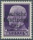 ** Dt. Besetzung II WK - Zara: 1943, 50 Lire Schwärzlichgrauviolett, Aufdruck Type I, Farbfrisches Exem - Occupazione 1938 – 45