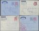 Beleg 1957-59, 6 Aerogramme Bedarfsgebraucht Nach Deutschland Gelaufen (Michel: 1(2),3 A,b U.a.) - Stamps